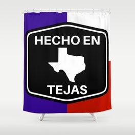 Hecho En Tejas Shower Curtain