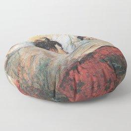 THE BED - HENRI DE TOULOUSE LAUTREC  Floor Pillow