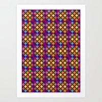 Funky Squares Art Print