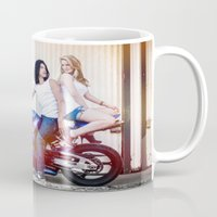 vampire diaries Mugs featuring Motorcycle Diaries by Marcus Meisler