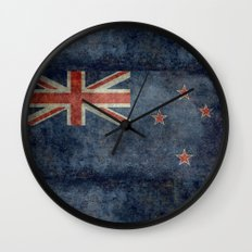 National flag of New Zealand - Retro vintage version to scale Wall Clock