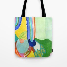 Abstract Rainbow Sprout Landscape Tote Bag