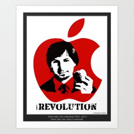 Steve Jobs iTribute - All profit donated to CANCER RESEARCH uk. Art Print