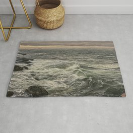 Waves at sunset Rug