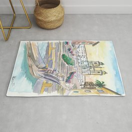 Rome Italy Piazza Spagna with Spanish Steps Rug