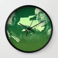 breaking bad Wall Clocks featuring BREAKING BAD by Hands in the Sky