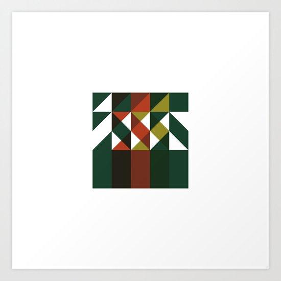 #209 Wildfire – Geometry Daily Art Print