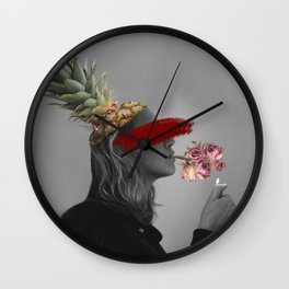 Blind Society Collage Art Wall Clock