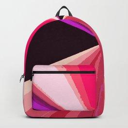 Hot pink black modern triangles pattern Backpack