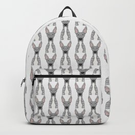 Blue and white Greyhound Backpack