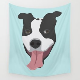 Smiley Pitbull Wall Tapestry
