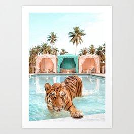 Cabana Tiger Art Print