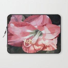 Pink Amaryllis Watercolor Botanical Garden Flower Painting Nature Art Laptop Sleeve