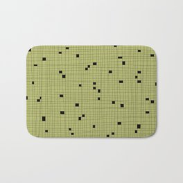 Light Green and Black Grid - Missing Pieces Bath Mat