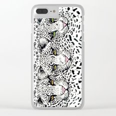 CHEETAH FACES Clear iPhone Case