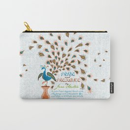 Paisley Peacock Pride and Prejudice: Modern Carry-All Pouch