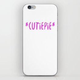 *Cutiepie* (Plain pink) iPhone Skin