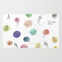 plane Area & Throw Rugs featuring Plane by Infra_milk