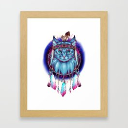 Dreamcatcher Cat Framed Art Print