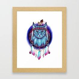 Dreamcatcher Cat Framed Art Print