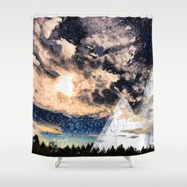 My Imaginations Sunset Shower Curtain