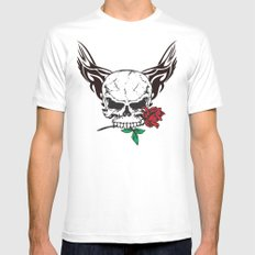 skull II Mens Fitted Tee SMALL White