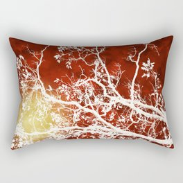 Burgundy Tree Art Rectangular Pillow