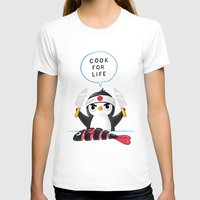 chef T-shirts featuring Penguin Chef by Freeminds
