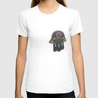 jewish T-shirts featuring Jewish Hamsa by Debra Slonim Art & Design