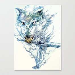 Great Grey Wolf Sif Canvas Print