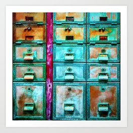 Mailbox (Hyper Color Remix) Art Print