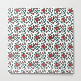 Pattern-red camellia Metal Print