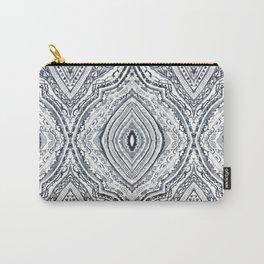 Black & White Diamond Carry-All Pouch