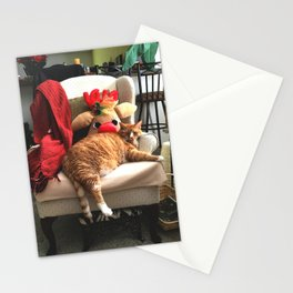 Holiday Cat Stationery Cards