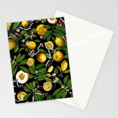 LEMON TREE Black Stationery Cards