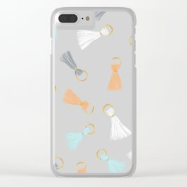 Tassel Hassle Clear iPhone Case