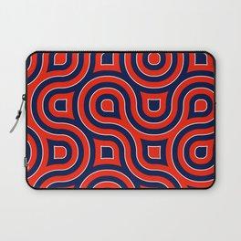 Red Deep blue spirale Laptop Sleeve