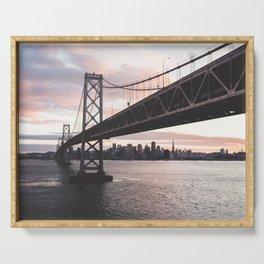 Bay Bridge - San Francisco, CA Serving Tray