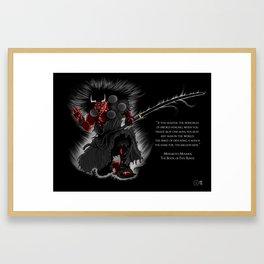 Oni Demon Framed Art Print