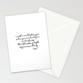 The astonishing light of your own being - Hafiz Stationery Cards