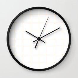 Graph Paper (Tan & White Pattern) Wall Clock