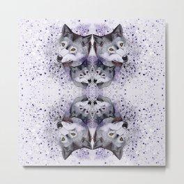 Lilac Wolf Metal Print