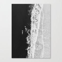 Ocean Surfing Girls Canvas Print