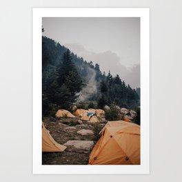 Himalayan Campsite Art Print