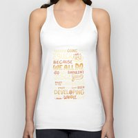 risa rodil Tank Tops featuring Don't Be Afraid To Suck by Risa Rodil