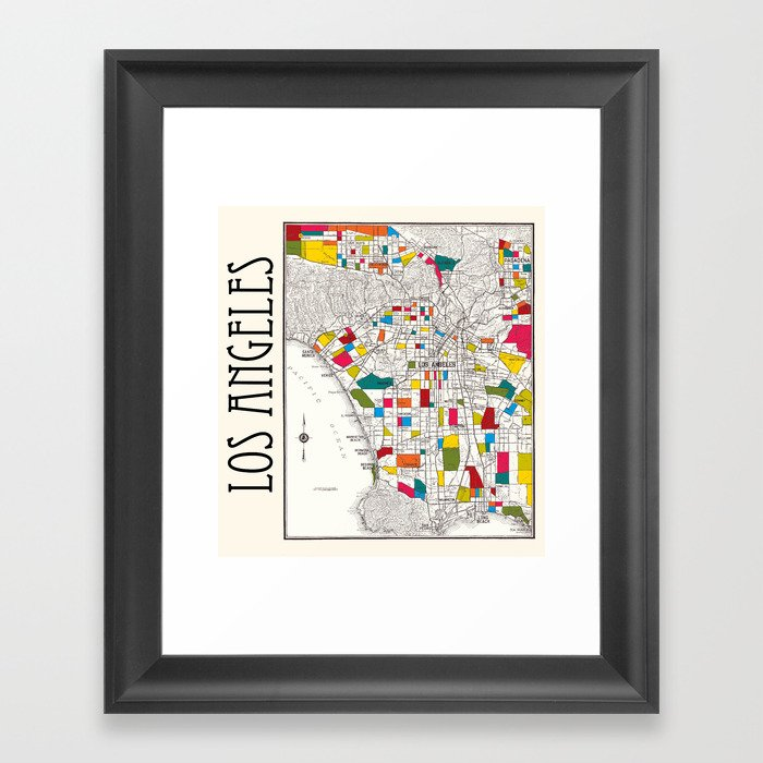 Los Angeles Streets Framed Art Print
