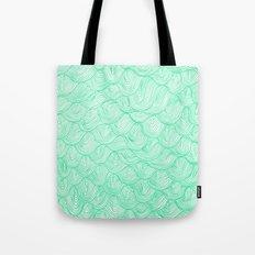 waves / green Tote Bag