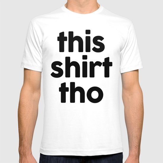 White Chevron On Black T-shirt