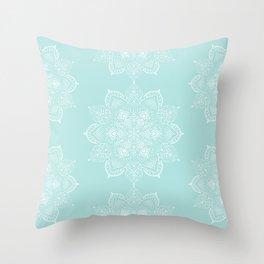 Winter Spirit Mint Throw Pillow