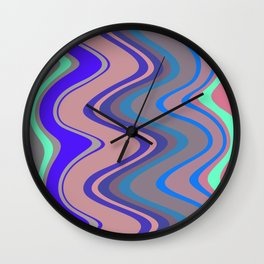 Distorted stripes in colour 5 Wall Clock